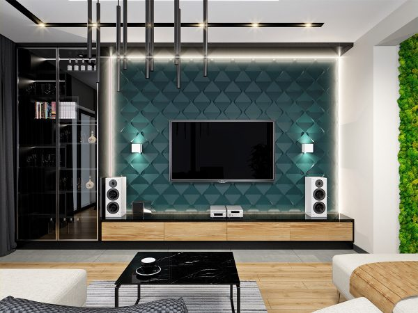 3D väggpanel - Motion